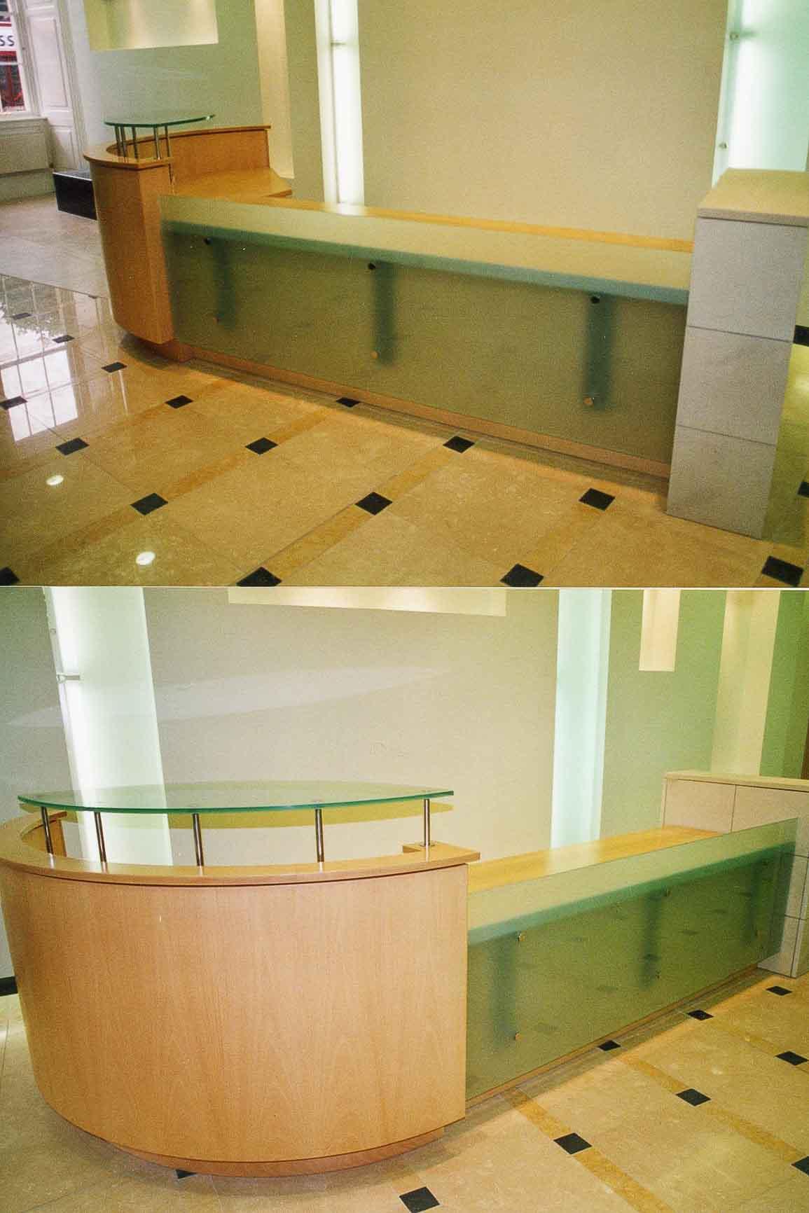 Custom Reception Desks | Jack Hyams -Design & Manufacture