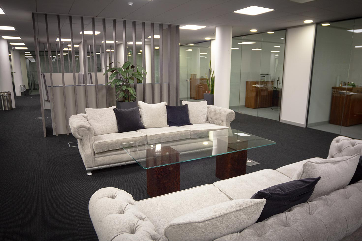 General seating area at Clyde Blowers Capital Ltd - Designed and Installed by Jack Hyams