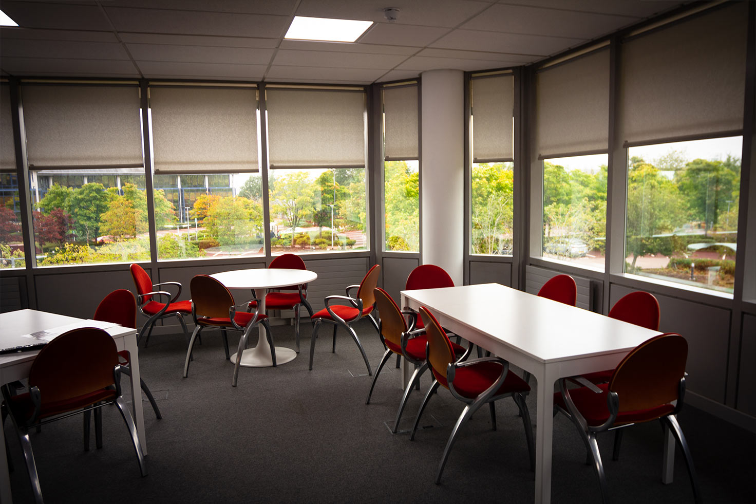 Office Kitchen and eating area at Clyde Blowers Capital Ltd - Designed and Installed by Jack Hyams