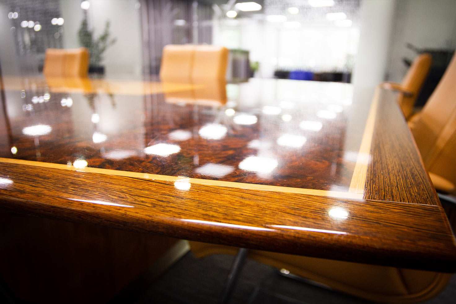 Boardroom desk and chairs at Clyde Blowers Capital Ltd - Designed and Installed by Jack Hyams